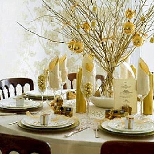 Ideas mesas de navidad y de a o nuevo - Decoracion fin de ano ...
