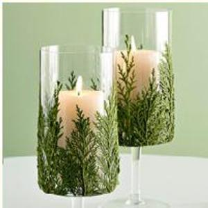Velas decoradas con ramas para navidad - Velas decoradas para navidad ...