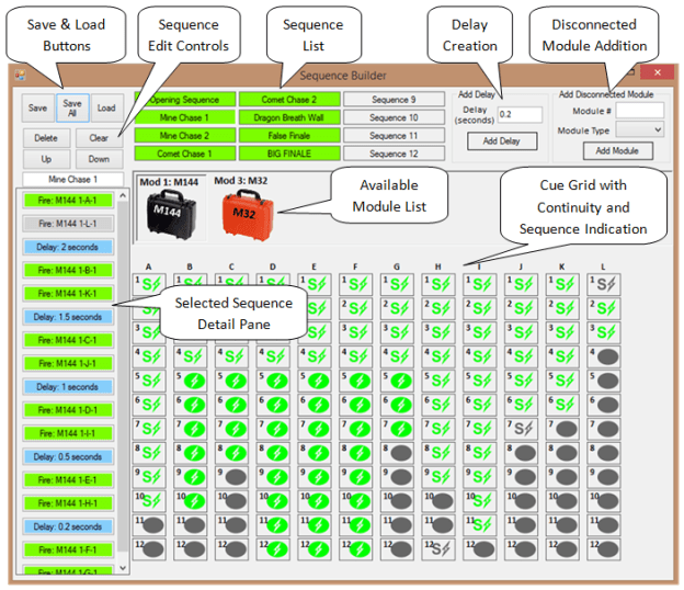APEX Sequence Builder Screen