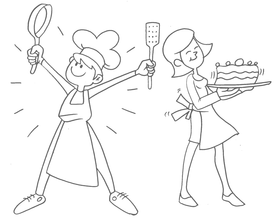 Bocetos para recetario  de cocina infantil (1/6)