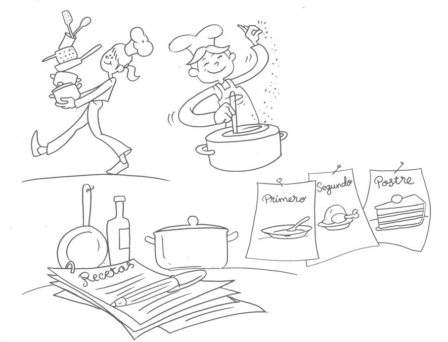 Bocetos para recetario  de cocina infantil (3/6)