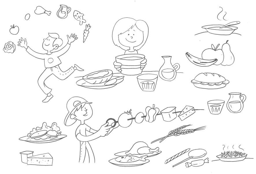 Bocetos para recetario  de cocina infantil (6/6)