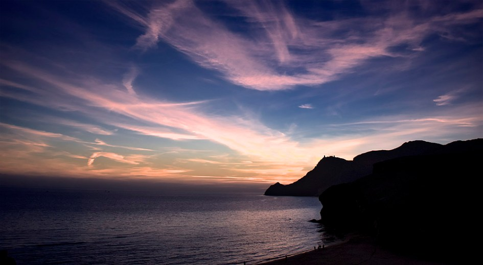 Atardecer en playa Mónsul