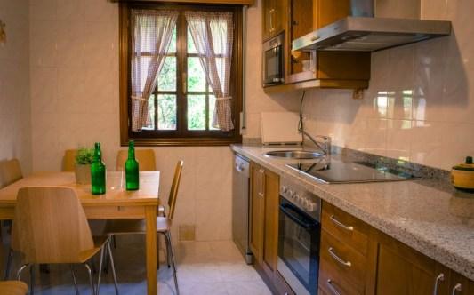 Cocina de la casa rural el Fareru, Asturias