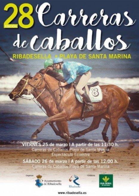Carrera caballos 2016 playa de Ribadesella