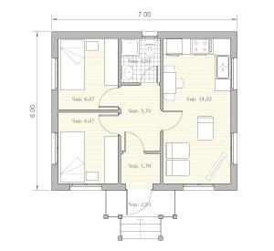 Casa de madera de lujo M3