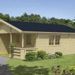 Casa de madera económica modelo ECO02