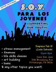 Supporting our youth poster