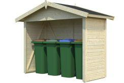 cobertizo contenedores de jardín de Casas Carbonell en madera