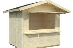 kiosco de madera Stella de Casas Carbonell con mostrador