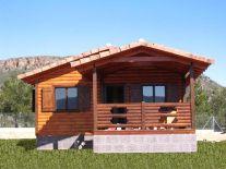 Casa de madera modelo Kempes de Casas Carbonell