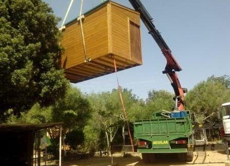 trasladar una casa de madera prefabricada