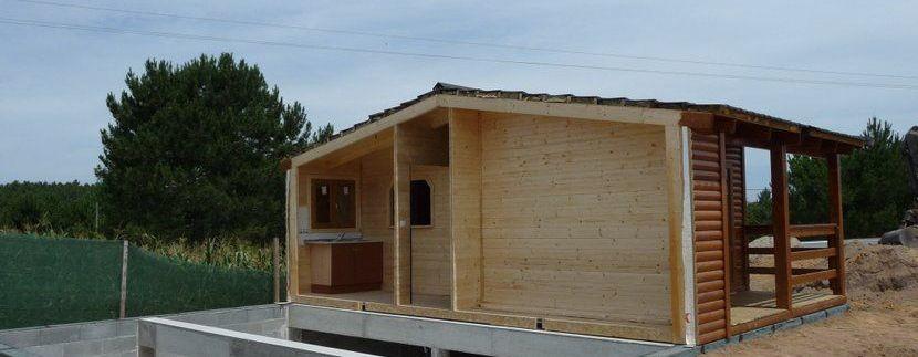 sotano de obra para casa de madera prefabricada