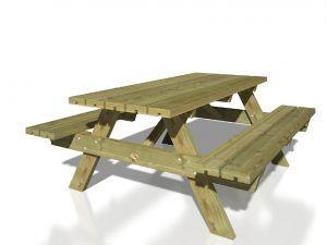Mesa prefabricada madera de Casas Carbonell