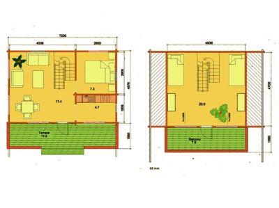 Planos de Casas de madera maciza en kit Marta