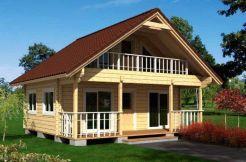 Casas de madera maciza en kit Marta