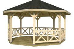 pergola Betty 18 de Casas Carbonell de madera laminada