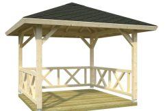 Pabellón de jardín Betty 9.0 Casas Carbonell madera laminada