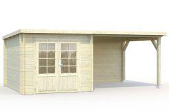 cabaña economíca Ella 6.9 8.2 de Casas Carbonell madera tratada