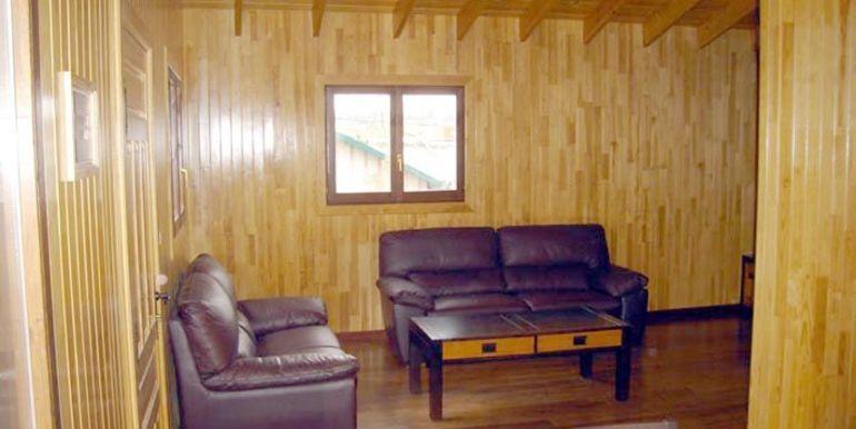Interior de casa de madera Kempes de Casas Carbonell