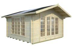 casetas de jardín de madera Irene 13.9 de Casas Carbonell en madera maciza