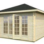 casitas para jardín en madera Julie 10.3 de Casas Carbonell de madera maciza