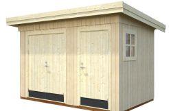 cobertizo económico Kalle 6.6 de Casas Carbonell en madera tratada