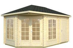 casitas de jardín en madera Melanie 10.7 de Casas Carbonell con trastero
