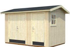 Cuarto de jardín Olaf 6.6 de Casas Carbonell de paneles de madera