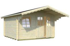 caseta de jardín Sally 12.3 de Casas Carbonell de madera maciza