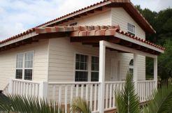 casas de madera, Casas Carbonell, modelo Nadia Fantom 4H, terraza