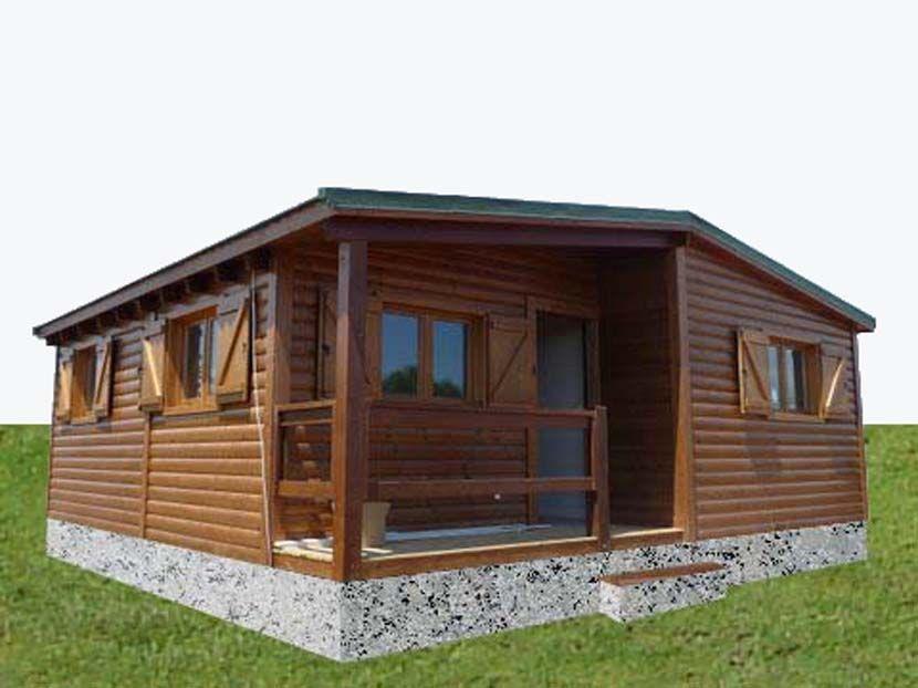 Casa de madera prefabricada carpato nh macieira 74m - Vivir en una casa prefabricada ...