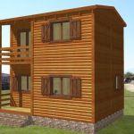 casa de madera modular Biloba de Casas Carbonell