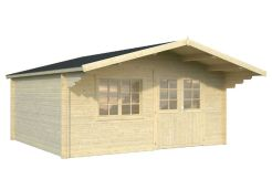 casita de madera económica Britta 19.7 de Casas Carbonell en madera tratada