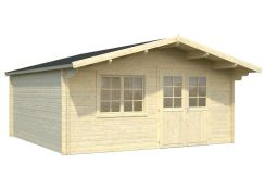 cabaña de madera económica Britta 22.3 de Casas Carbonell de madera laminada