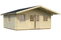cabaña para jardín Helena 24.6 de Casas Carbonell en madera maciza de 70 mm