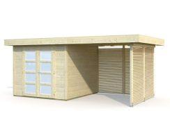 casita moderna de jardín Lara 6+5.9 de Casas Carbonell con paneles extras