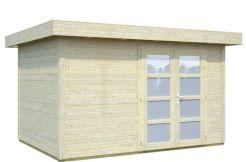 cabaña moderna Lara 8.4 de Casas Carbonell en madera tratada