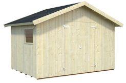 Trastero para jardín Nils 8.2 de Casas Carbonell de tablas de madera verticales