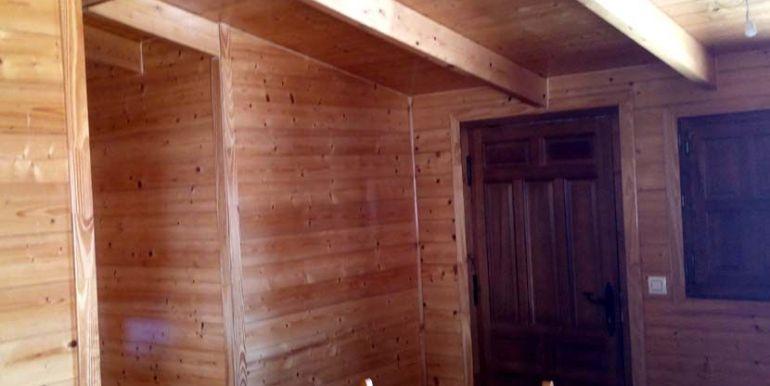 Casa móvil prefabricada usada, modelo Denia de Casas Carbonell interior en madera
