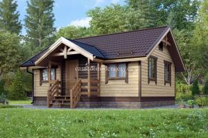 Casa de madera de lujo