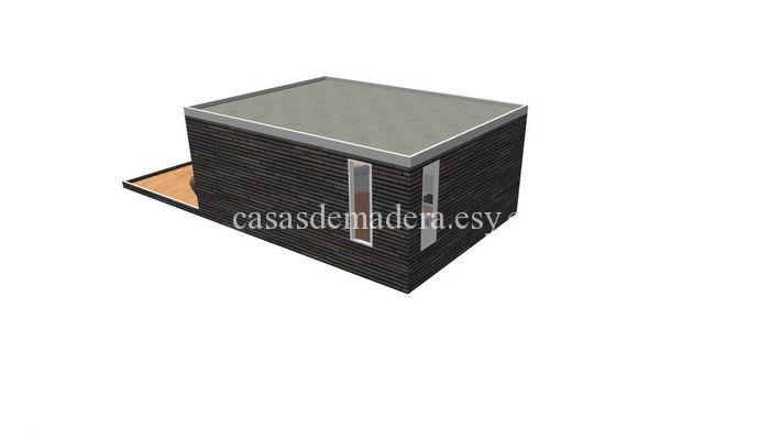 Casa prefabricada moderna 001 5 - Casa prefabricada moderna  M01