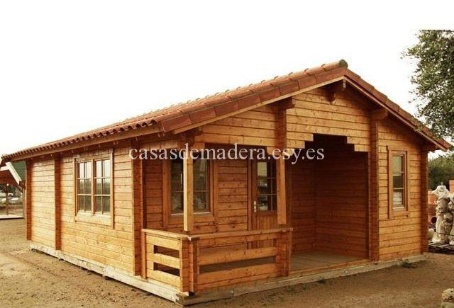 Casas de madera - Estructura casa madera ...