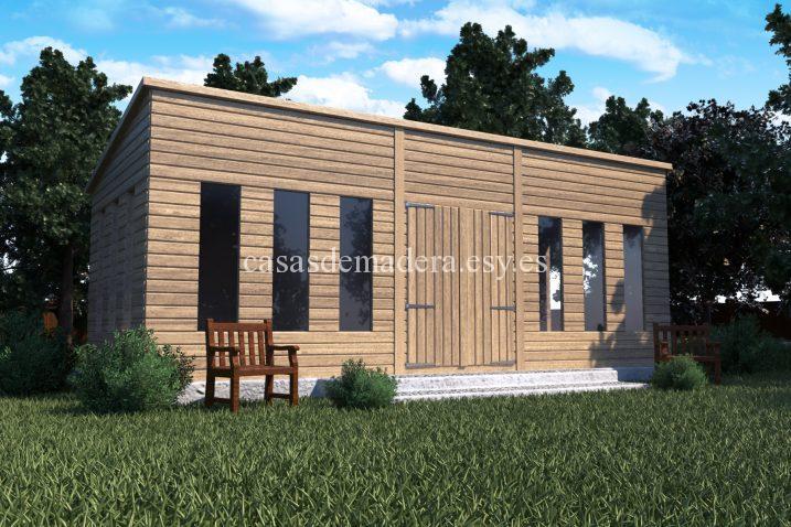 shed02 scene 01 717x478 - Casas de madera de la marca Noah 18m2