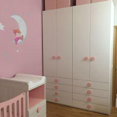 Habitación infantil gemelar.