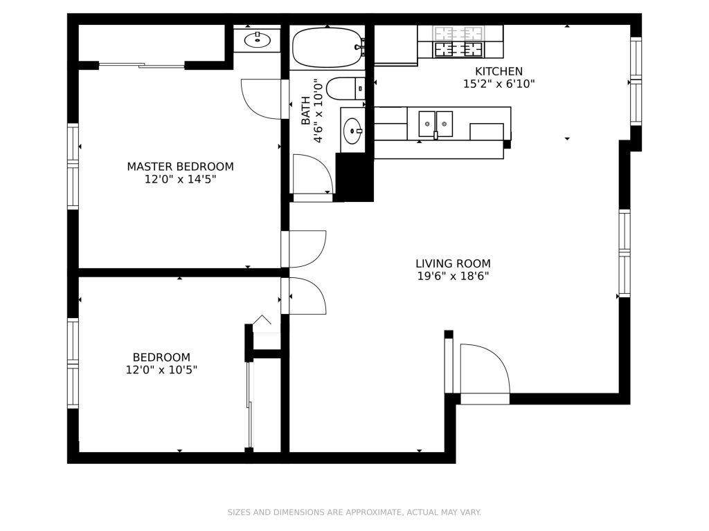 2 bedroom, 1 bathroom - Casa Serena Apartments
