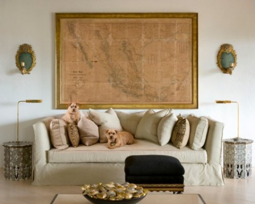 iving-room-decorating-ideas-home-decor-sofa-white-light-linen-fabric-covered-upholstery-neutral-natural-map-wall-black-ottoman-interior-design_peter-vitale1-470x376