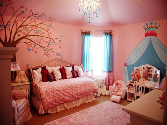 Amazing-Beautiful-Girls-Rooms-Design-with-tree-decal