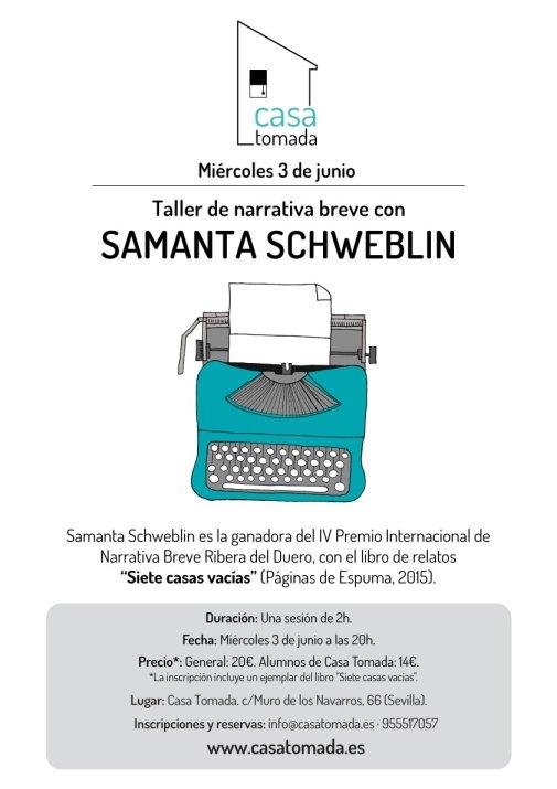 Taller Samanta Schweblin en Sevilla