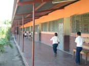 This is the San Isadro School the team will be painting
